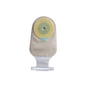 One piece disposable hydrocolloid ostomy bag